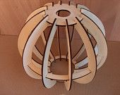 Image detail for -DIY Plywood sphere lamp shade by InvenioCrafts on Etsy Cardboard Furniture, Cardboard Crafts, Laser Cut Wood, Laser Cutting, Lampe Laser, Sous Bock, Deco Luminaire, Cardboard Sculpture, Wooden Lamp