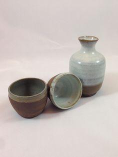Handcrafted Sake Set by HaikuStudios on Etsy