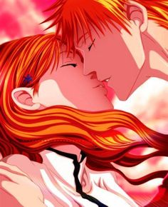 Bleach - Ichigo Kurosaki x Orihime Inoue - IchiHime Bleach Art, Bleach Manga, Fanarts Anime, Manga Anime, Ichigo E Orihime, Bleach Couples, Double Picture, Bleach Characters, Shinigami