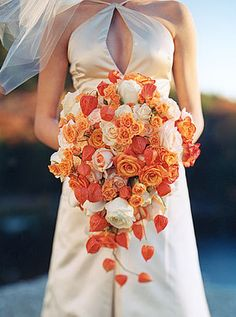 So, this was the almost exact bouquet that I ordered. It was about a third this size when I got it and I won't even say what the price was. Total rip off. I was having a quickie wedding so I didn't have time to argue. I'm still mad about it.