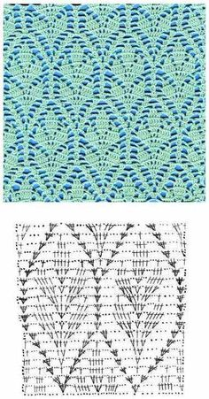 Несколько узоров вязания крючком