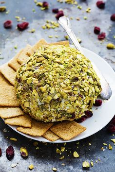 Cranberry Pistachio Cheeseball