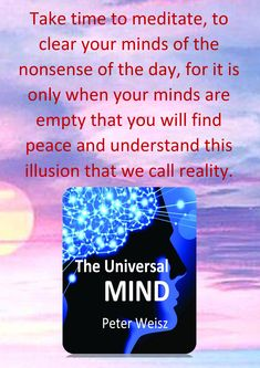 Clear Your Mind, Finding Peace, Consciousness, Definitions, Nonfiction, Illusions, Evolution, Kindle, Books To Read