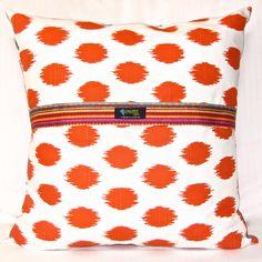Crazy Daisy Art Pillow, reverse side. Original design. www.bluethistlearts.com