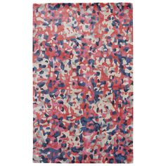 a certain nook need an artistic touch? inject a soupçon of whimsy with the nonchalant splatters of this colorful rug.