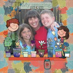 I Love You Mom by SoMa Designs. Available at Oscraps: [ link ], digital scrapbooking & artistry I Love You Mom, My Love, Mother's Day Photos, Digital Scrapbooking, Whimsical, How To Draw Hands, Kit, Amazing, Design