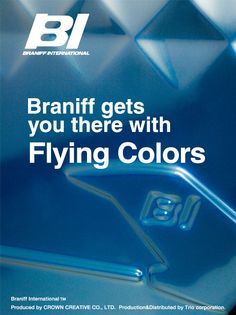 BRANIFF suitcase Blue gradation By TRIO Corporation