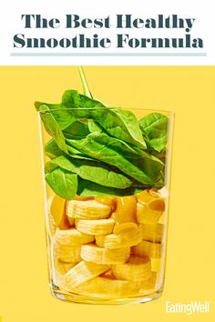 We all know a smoothie is a great way to get your fruits and veggies in first thing. Use this formula to make a smoothie that's slurp-till-the-last-drop delicious. We suggest potential ingredients, but feel free to use whatever you have on hand. #smoothies #smoothierecipes #healthysmoothies #smoothieideas #healthyrecipes Smoothie Drinks, Smoothie Bowl, Fruit Smoothies, Healthy Smoothies, Smoothie Recipes, Vitamix Recipes, Healthy Recipes, Strawberry Peach Smoothie, Yummy Bites