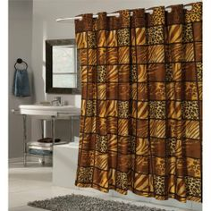 70 Wide X 84 Long Wild Encounter Ez On Hookless Shower Curtain By