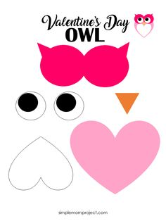 Day Crafts See this post for a FREE printable template to make your own Valentine's Day Owl! This simple DIY Owl Valentine's Day card is an easy craft for toddlers, big kids and adults to make. Great for classroom Valentine's Day art projects. Valentines Bricolage, Kinder Valentines, Valentine Crafts For Kids, Valentines Day Activities, Valentines Day Bags, Homemade Valentines, Valentine Wreath, Valentine Ideas, Valentine Cards