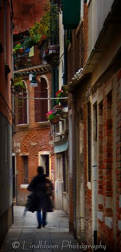 Narrow streets in Venice