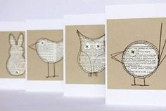 coole-ideen-basteln-mit-papier-karten-selber-machen-diy-karten-basteln-schöne-o… cool-ideas-tinker-with-paper-card itself-do-diy-cards-tinker-beautiful-original-ideas Diy Paper, Paper Art, Paper Crafts, Origami, Book Page Crafts, Old Book Crafts, Karten Diy, Old Books, Book Pages