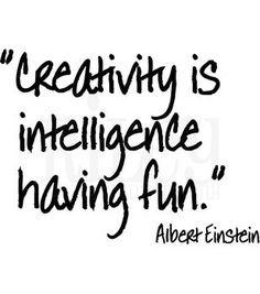 Riley & Company Funny Bones Stamp Creativity Is Intelligence Having Fun