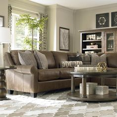 Living Room Furniture Leather living room with two recliners & two couches | home inspiration
