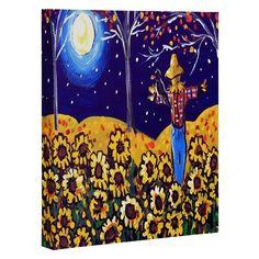 Renie Britenbucher Scarecrow in the Moonlight Art Canvas | DENY Designs Home Accessories