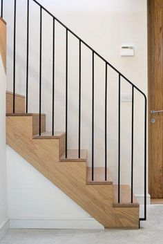 Stunning Interior Painting Painters Tape Ideas - Halls, Floors & Stairs Stunning Interior Painting Painters Tape Ideas - Halls, Floors & Stairs - Stunning floors Halls Interior PaintersMountain Fixer Upper: The final kitchen Stair Handrail, Staircase Railings, Staircase Design, Stairways, Open Staircase, Staircase Remodel, Staircase Ideas, Bannister, Stair Trim Ideas