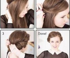 This looks so easy and so pretty!!!! I love that it's not work to do hair sometimes...