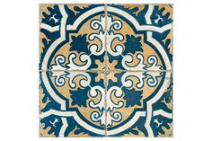 Our Moorish ceramic tiles have been designed by prestigious designer Francisco Segarra, known for his vintage furniture. This fantastic collection brings all the character and flavour of vintage tiles to modern day interior design. Inspired by classic motifs of ancient Persian pottery Moorish tiles bring you a stunning pattern in blue, orange and white with all the charm and style of handmade vintage tiles. These tiles are finished with worn edges and with a scored line, and when you grout…