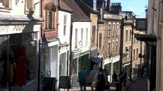 "An eclectic mix of independent shops on the steep and cobbled ""Catherine Hill"" in the Somerset town of Frome. Special Images, Somerset, Around The Worlds, Shops, Places, Pictures, Photos, Tents, Photo Illustration"