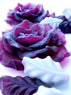 ROSE FLOWER SOAP  Deep Cabernet Red Roses with by thecharmingfrog, $10.00