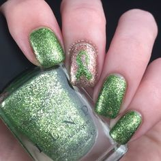 Lyme Disease Awareness Nails With ILNP | Polish and Paws | ILNP Limelight and Juliette from the Ultra Metallics Range | Cruelty Free |