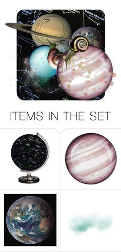 """""""Snails in Space"""" by alzjunkyard ❤ liked on Polyvore featuring art"""