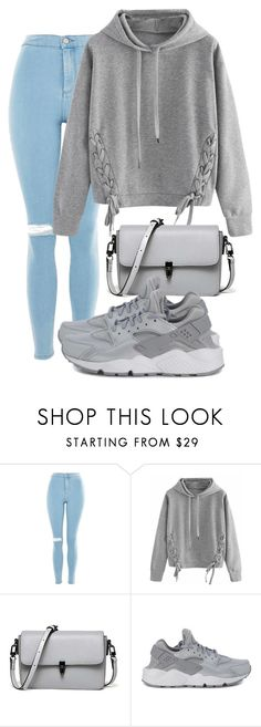"""""""Untitled #17"""" by mymy080502 on Polyvore featuring Topshop, WithChic and NIKE"""