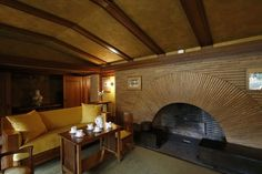 Big and small ways to make your house a Frank Lloyd Wright house  Step inside: Inspiration can be found in the rooms of the Darwin D. Martin House, designed by Frank Lloyd Wright. Wright saw the fireplace as the heart of the home.