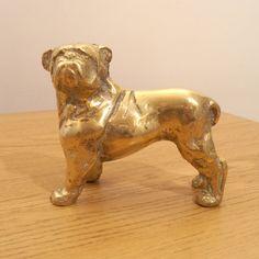 Brass Dog || Vintage Sculpture / Statue by UKAmobile on Etsy