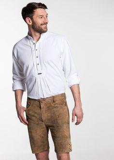 "Lederhose ""Dock"", Wolf | Spieth & Wenksy Online Shop Online Shopping, Button Down Shirt, Men Casual, Mens Tops, Fashion, Fashion Styles, Moda, Dress Shirt, Net Shopping"