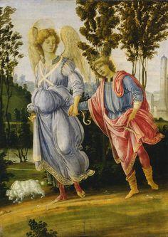 FILIPPINO LIPPI, Tobías y el Ángel, 1472-82, National Gallery of Art, Washington