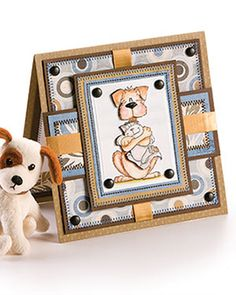 Paper Crafting - Card Patterns - Encouragement & Get Well Card Patterns - Warm Fuzzies Dog Cards, Kids Cards, Cardmaking And Papercraft, Warm Fuzzies, Christmas Cards To Make, Get Well Cards, Card Patterns, Card Tags, Homemade Cards