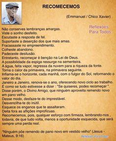 Acesse, com link para o vídeo. #Reflexao #Espiritismo #ChicoXavier