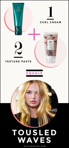6 Genius Hair Cocktail Tutorials You Need To Know - product pairings for flawless hairstyles // 1. How to get trendy tousled waves