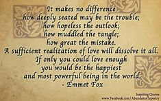 Dissolving difficulties with the power of love...  THE SPIRIT SIDE: THE POWER OF LOVE