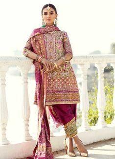 Make your wedding celebrations beautiful with Farah talib Aziz exclusive range of bridals wear and wedding dresses. Check out the latest collection and Shop online now! Nikkah Dress, Pakistani Formal Dresses, Pakistani Fashion Casual, Pakistani Dress Design, Bollywood Fashion, Asian Fashion, Ethnic Fashion, Wedding Outfits For Groom, Pakistani Wedding Outfits