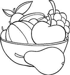 Print out Fruits Pear Watermelon and apple coloring in pagesFree Printable Coloring Pages For Kids. Vegetable Coloring Pages, Fruit Coloring Pages, Preschool Coloring Pages, Apple Coloring, Colouring Pages, Printable Coloring Pages, Free Coloring, Coloring Pages For Kids, Coloring Books