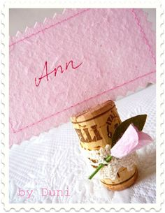 Eco chic place card holder DIY