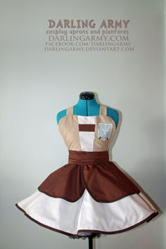 104th Trainee -Attack on Titan- Cosplay Pinafore by DarlingArmy.deviantart.com on @deviantART