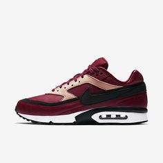 newest collection 9c801 271c4 Chaussure Nike Air Max Bw Pas Cher Femme et Homme Premium Rouge Equipe Brun  Vachette Blanc