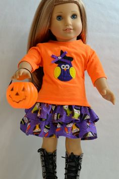 American Girl Doll Clothes  Halloween Owl by ThreadsAndSplinters, $25.00