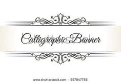 Calligraphic restaurant logo menu. Vintage ornament vector book template. Retro greeting card border, wedding invitations design, place for text. Flourishes calligraphy vignette. Page decoration frame
