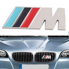 M power Series Metal Logo Sticker Emblem Badge Chrom 1 3 4 5 6 7 E Z X M3 M5 M6 Mline for BMW M logo car-styling stickers