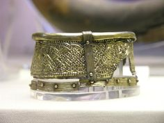 7thC Anglo-Saxon drinking vessel mount detail. Taplow burial. Photograph courtesy Lindsay Kerr.