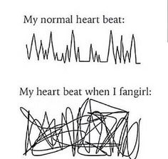 This is actually how I feel when I fangirl, not a 1D fan at all but just in general, supernatural etc.