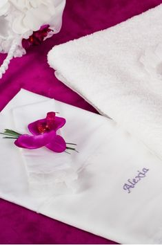 """""""Orchid"""" Trousseau - Christening Set for Baby Baby Orchid, Baby Towel, How Big Is Baby, Baby Needs, Christening, Pink Color, Orchids, Babies, Shop"""
