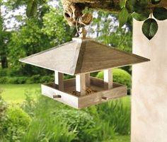 Futterhaus Häuschen Futterstelle Vögel Vogelhaus Natur in Garten & Terrasse, Dekoration, Vogelhäuser | eBay