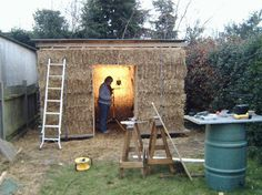 the straw bale shed is an entrant for Shed of the year 2014 via @readersheds #shedoftheyear
