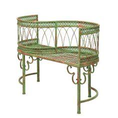 Bank Lustgarten - Eisen Grün - Vintage der Marke Kare Design, Maße: Breite: 110 cm Höhe: 80 cm Tiefe: 44 cm Sitzhöhe: