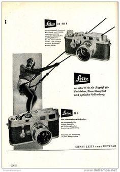 Original-Werbung/ Anzeige 1954 - LEICA KAMERA / LEITZ - WETZLAR - ca. 150 x 220 mm